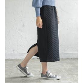 キルティングナロースカート [M3423] (ブラック)
