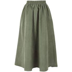 ギャザーフレアスカート [M3488] (グリーン)