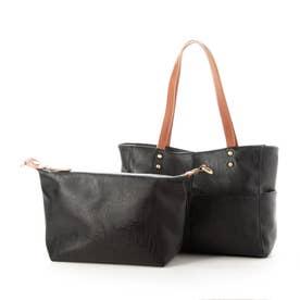 Bag in Bag仕様3wayトートバック(ブラック)