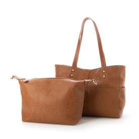 Bag in Bag仕様3wayトートバック(キャメル)