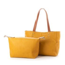 Bag in Bag仕様3wayトートバック(マスタード)