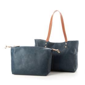 Bag in Bag仕様3wayトートバック(ネイビー)