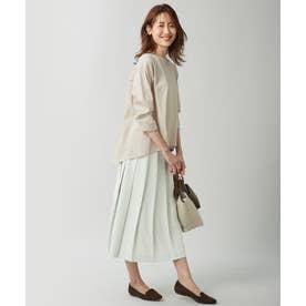 【シワ加工・洗える】Pe2WAYストレッチプリーツスカート (ライトグリーン系)