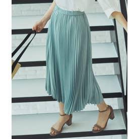 【春の新色2色登場!/洗える】アコーディオン プリーツスカート (スモーキーグリーン系)