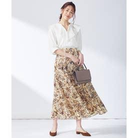 【東原亜希さん着用・KMKK】ニュアンスフラワープリントスカート(KK34) (イエロー系フラワープリント)
