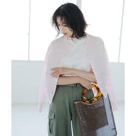 【洗える】アメリカンシーアイランドコットン 半袖プルオーバー (ピンク系)