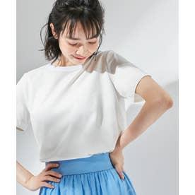 【東原亜希さん着用・KMKK】ハイツイストコットン天竺Tシャツ(KK36) (ホワイト)