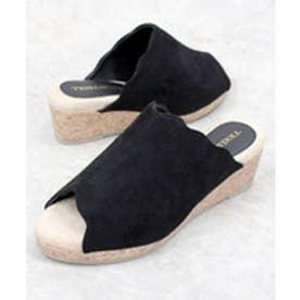 SFW 履き心地の良い美脚サンダル/5568 ブラック ブラック