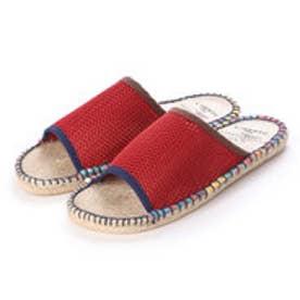 サンダル メンズ メッシュ 通気性 ジュートサンダル ビーチサンダル 靴 (Red)