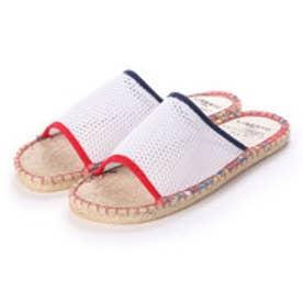 サンダル メンズ メッシュ 通気性 ジュートサンダル ビーチサンダル 靴 (White)