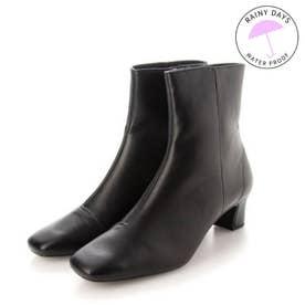 【レイン対応】RainyDay スクエアトゥショートブーツ(R9013) (ブラック)