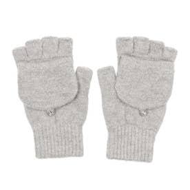 婦人 ニット手袋 (グレー)