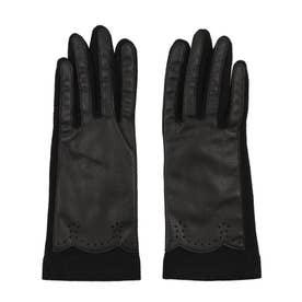 婦人 ジャージ手袋 五本指 (ブラック)