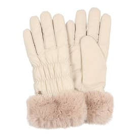 婦人 カジュアル手袋 五本指 (アイボリー)
