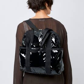 DOUBLE TROUBLE BACKPACK (ブラックパテントシル)