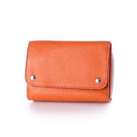 COW adria 三つ折り ミドル 財布 イタリアンレザー (オレンジ)