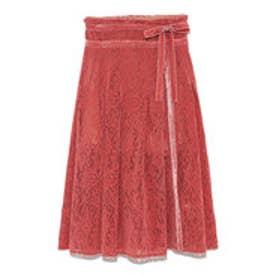 フロッキーラップ風スカートパンツ (ピンク)