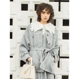 ビッグシルエットシャツジャケット (BLU)