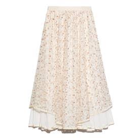 チュール刺繍スカート (OWHT)