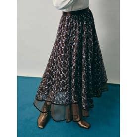 チュール刺繍スカート (BRW)