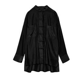 チャイナライクシャツ (BLK)