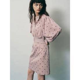 小紋刺繍スカート (BEG)