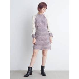 袖切替ツイードミニワンピース (MIX)