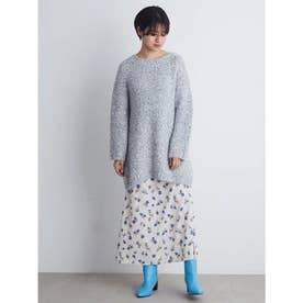 花柄ロングスカート (OWHT)