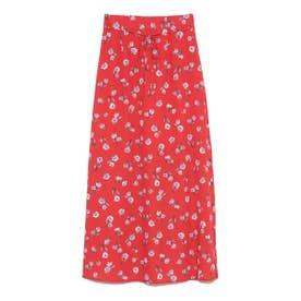 花柄ロングスカート (RED)