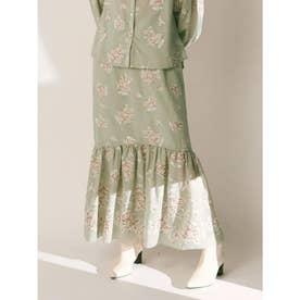 フラワー刺繍ロングスカート (MNT)