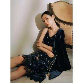 ベロア刺繍キャミワンピース (NVY)