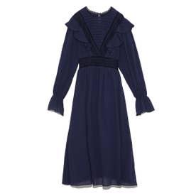 コットンフリルナイトドレス (NVY)