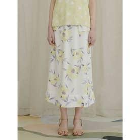 フローラルIラインスカート (OWHT)