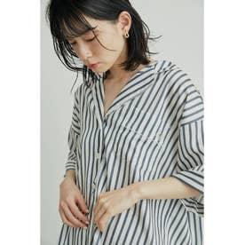 サテンパイピングシャツ (OWHT)