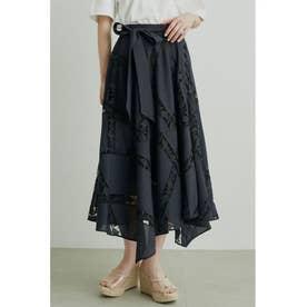 エンブロイダリーレーススカート (BLK)