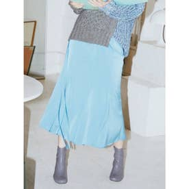 ウエストデザインマーメイドスカート (BLU)