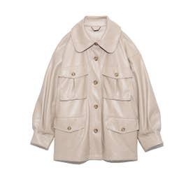 オーバーシャツジャケット (BEG)