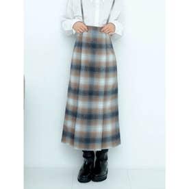 【限定サイズ】サスペンダー付ハイウエストスカート (CHECK)