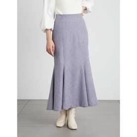 【限定サイズ】リリー刺繍マーメイドスカート (BLU)