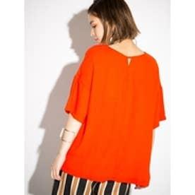 ドロップショルダーBIGシルエットTシャツ オレンジ
