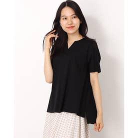 【接触冷感】シルケットスムースTシャツ (ブラック)