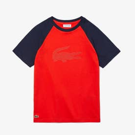 Boys ワニプリントラグランTシャツ (レッド)