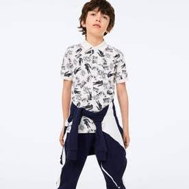 Boys ヘリテージデザインプリントポロシャツ (オフホワイト)