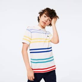 Boys マルチボーダーストライプポロシャツ (オフホワイト)