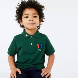BOYSデフォルメワニロゴワッペンポロシャツ (グリーン)