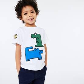 BOYSデフォルメワニロゴプリントTシャツ (ホワイト)
