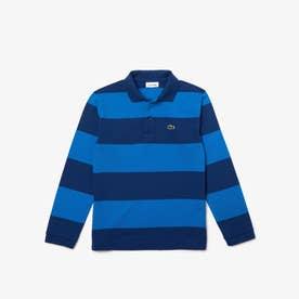 BOYSソフトストライプポロシャツ (ブルー)