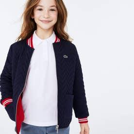 GIRLSコントラストデザインキルティングジャケット (ダークネイビー)