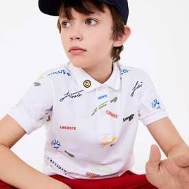 BOYSカラフルロゴデザインポロシャツ (ホワイト)