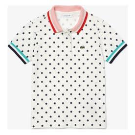 GIRLSドットポロシャツ (ホワイト)